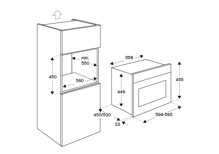 60x45CM Combi-Microwave Oven | Bertazzoni