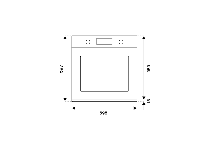 60cm Electric Pyro Built-in Oven, TFT display, total steam   Bertazzoni