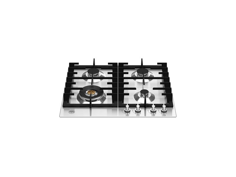60 cm gas hob with wok | Bertazzoni - Stainless Steel