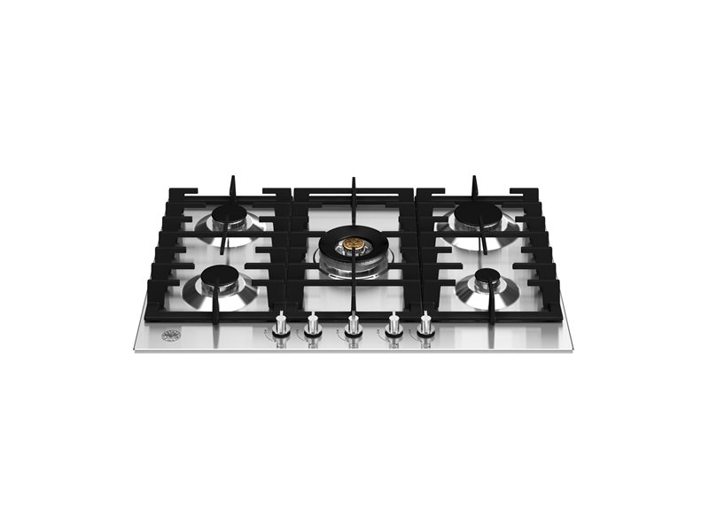 75 cm Gas hob with central wok | Bertazzoni - Stainless Steel