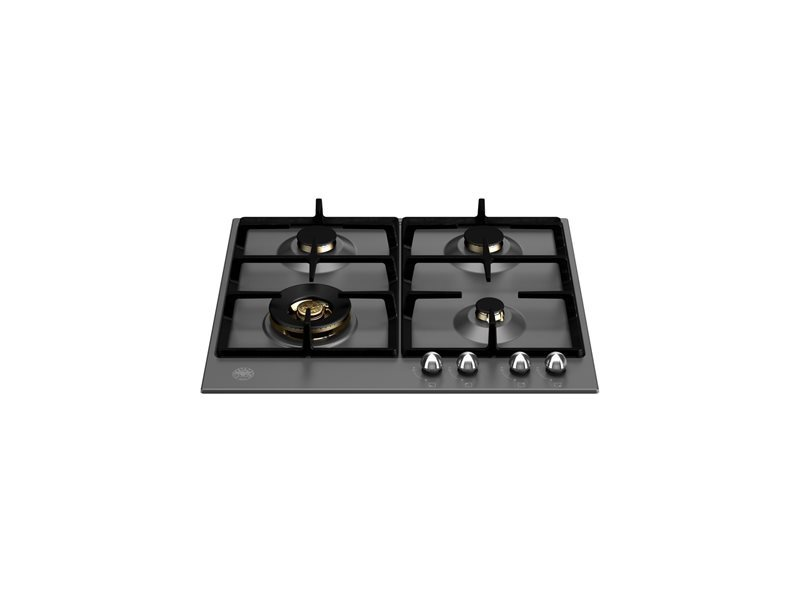 60 cm Gas hob with wok | Bertazzoni - Nero Matt