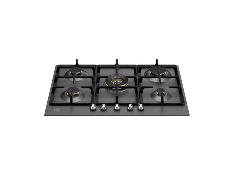 75 cm Gas hob with central wok | Bertazzoni - Nero Matt